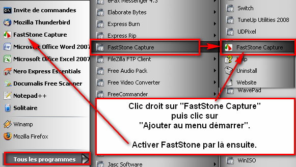 "Barre d'outils de ""FASTSTONE-CAPTURE"".[RESOLU] AMH-FastStone-demarrer1"